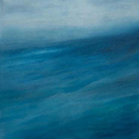 Claudia De Grandi 'Waves 6' 2018 oils, graphite on canvas, 200x200cm.