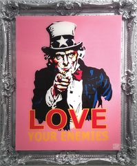 Clay Sinclair, Love your enemies, 144 x 138cm, acrylic on perspex