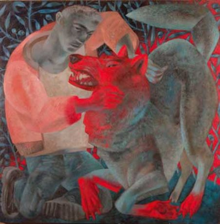 Clive Hicks-Jenkins: Hervé and the Wolf Saints and their Beasts: Image 0
