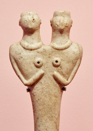 Conjoined Syro-Hittite Sculpture, 2700 - 1500 BCE