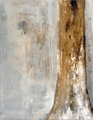 Tree Trunk, mixed media on canvas, 130x100cm