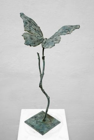 Butterfly on a Branch, bronze