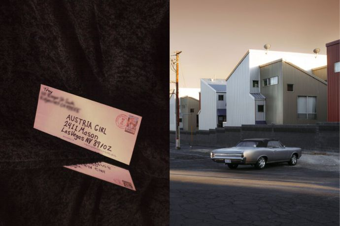 The Envelope from Troy C., 2015 (left) & The almost new special Car to feel special and appreciated, 2015 (right) from: I Can Be Her © Stefanie Mooshammer