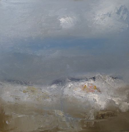 'Easterly Heavy Seas' by Ian Rawnsley,  oil on canvas  61 x 61cm