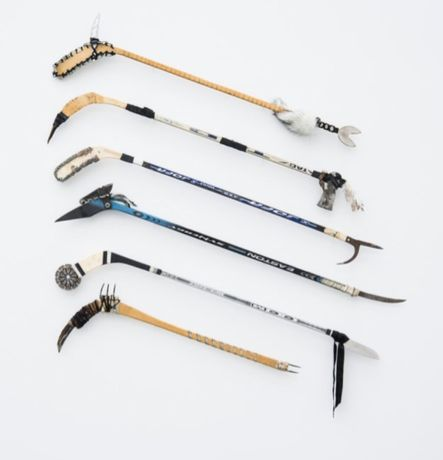 Gabriel Johann Kvendseth A Collection of Junior Sized Hockey Sticks (Escapism ≥ Gravity II), 2013, installation, environmental dimensions