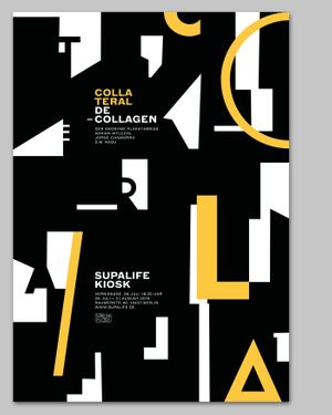 Colla Teral exhibition poster