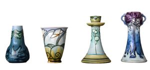 Selection of Mintons Secessionist Ware from the Alessandra and Simon Wilson Collection