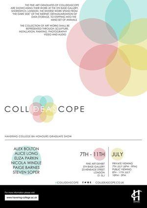 Collideascope at 5th Base Gallery, Brick Lane, London