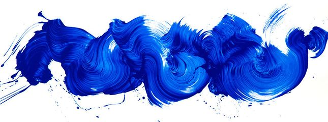 James Nares, I'm Blue, 2017, silkscreen, 75 x 28 inches
