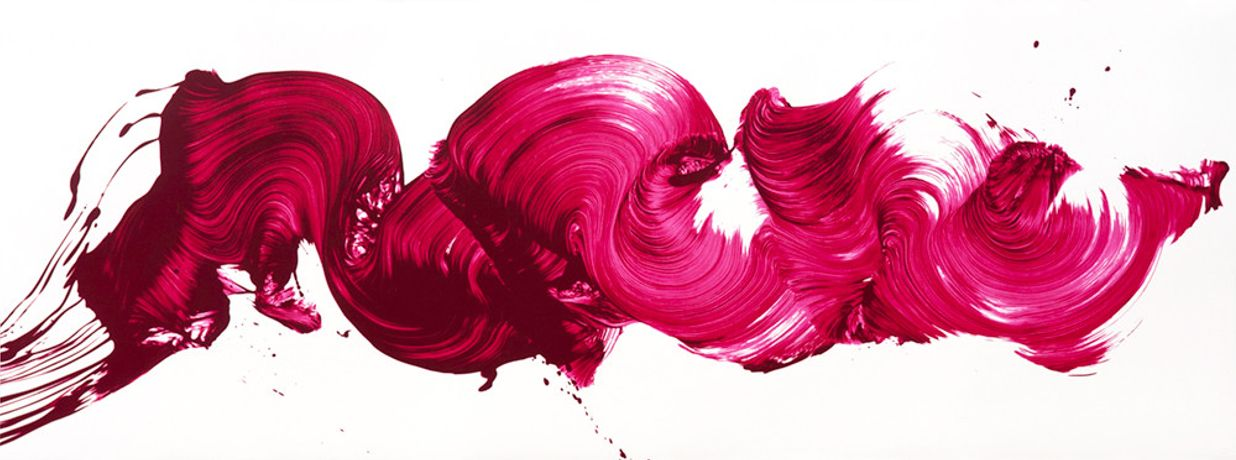 James Nares, Girl About Town, 2017, silkscreen, 75 x 28 inches
