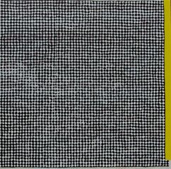 Andy Parkinson, Screen with Yellow Bar; acrylic and paper on hardboard, 61x61cm, 2013