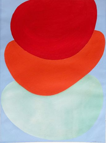 Untitled (Suspended Forms) 1970 - gouache on paper
