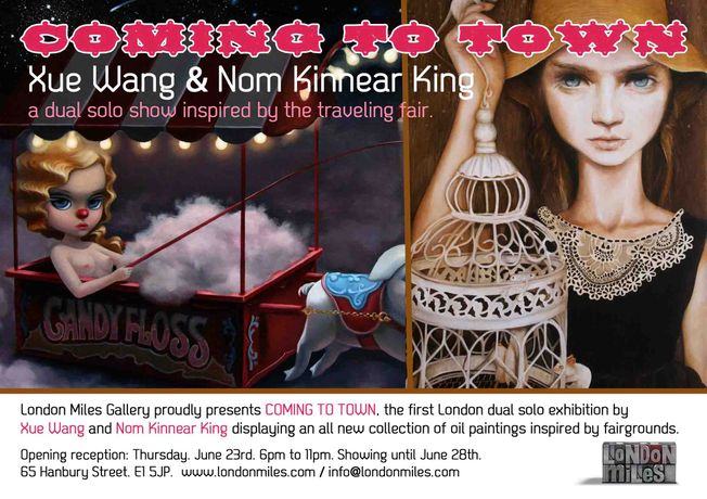 COMING TO TOWN: Dual Solo show by Xue Wang and Nom Kinnear King: Image 0