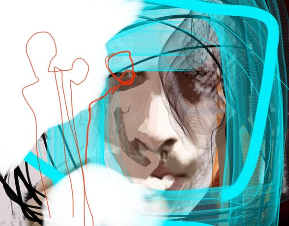 A soul corrupted by the city -  2013 - Digital sketch on glossy photographic paper - Edition 1 of 4 - 28 x 35.8cm