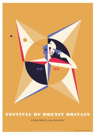 Richard Littler, The Festival of Brexit, 2018, Print on 250gsm paper, Courtesy of the artist and the Saatchi Gallery