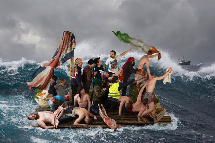 Rita Duffy, Advent of the Inevitable (The Raft Project) 2019, Photograph on diamond, Courtesy of the artist