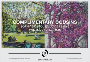 Complimentary Cousins by Sophy Bristol and Lucy Erskine at D Contemporary