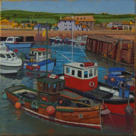 Boats at High tide, West Bay_Lucy Erskine