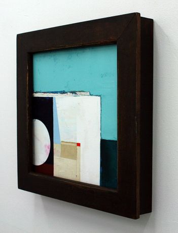 A Quiet History (2019) – oil, wax & collage on birch cradled panel; with 19th century antique oak frame