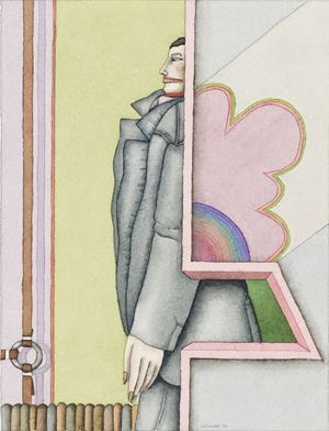 Robert Lostutter, Untitled, 1970, watercolour on paper, 19 x 14 cm. Courtesy of the artist and Patrick vs. Dempsey, Chicago, IL.