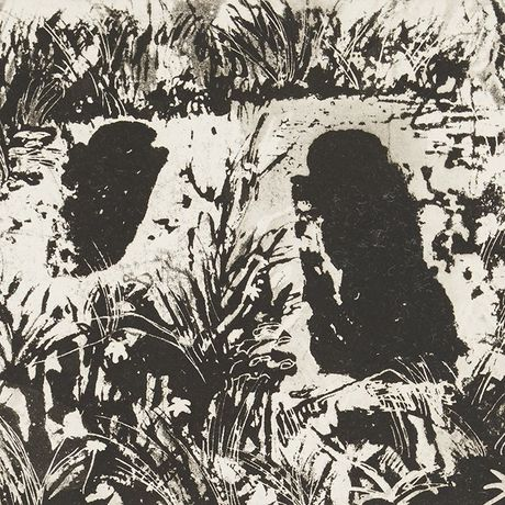 Norman Ackroyd, Infant Graves Lindores Abbey, 1989