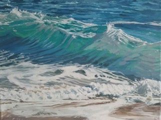 Wave Ascending Oil on canvas by Lesley Dabson