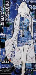 Jane Maxwell, Map Coat, Mixed Media with Resin on Panel, 77 x 36 inches