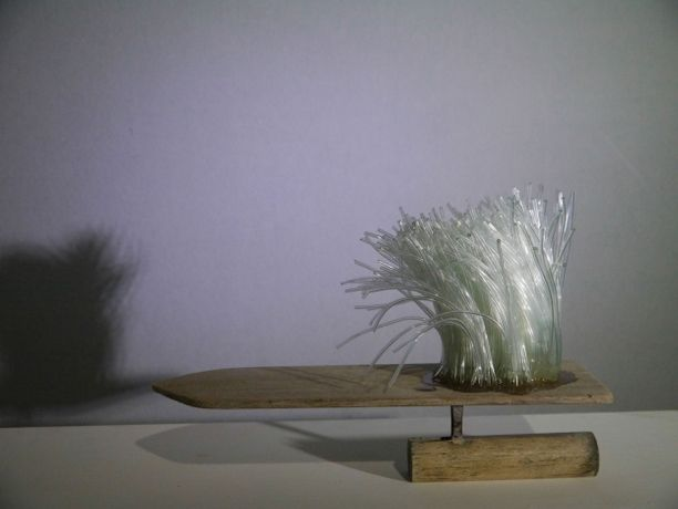 Grass on Float, hand float, PVC pipe, 20x30x15cm, 2019