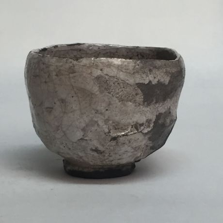 Tea in March 2015, approx. 7,4 x 9,2 x 9,4 cm, Raku fired ware, 1000° C, oxide, semi-transparent glazing; Photo: Semjon H. N. Semjon