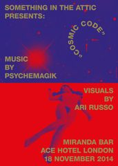 Cosmic Code exhibition poster by Commission