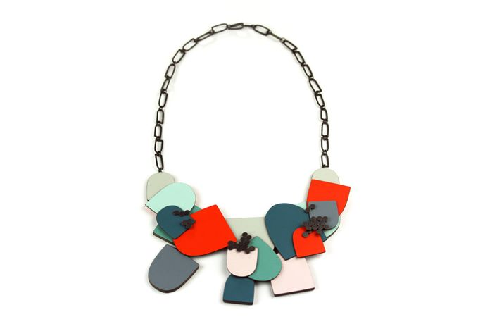 Laminate necklace by Emily Kidson