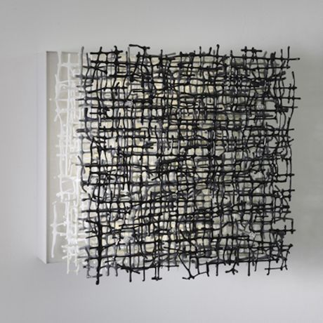 Tracy Nicholls,Erosion #1, 50x50x20cm, glass,stainless steel, leds