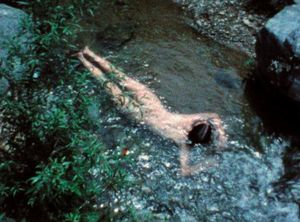 Ana Mendieta. Creek, 1974 Photo: The Estate of Ana Mendieta Collection, LLC.,Courtesy Galerie Lelong & Co.