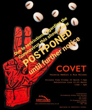 COVET_Exhibition postponed