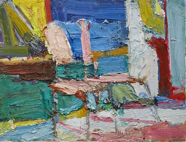 Chair Study 1 Oil on panel  31 x 40 cms
