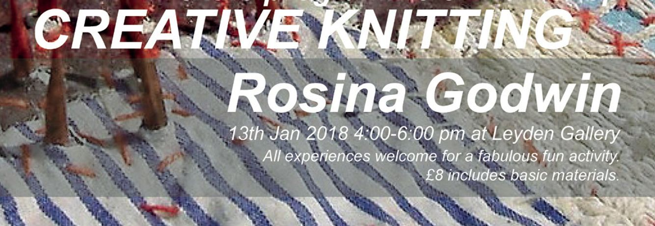 Knitting Events London : Creative knitting workshop at leyden gallery