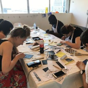 Linocut Workshops at Vo Curations