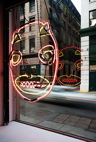 Brendan Fernandes (Canadian, b. Kenya, 1979). 1979.206.200, 2010. Neon on glass frame, 34 x 26 in. (86.4 x 66 cm.). Courtesy of the artist. © Brendan Fernandes. Photo: Erika Neola and Brendan Beecy