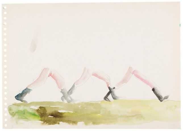 Philippe Vandenberg, No title, 1999 Watercolour and graphite on paper 29.7 x 42 cm © Estate Philippe Vandenberg Courtesy Hauser & Wirth Photo: Joke Floreal