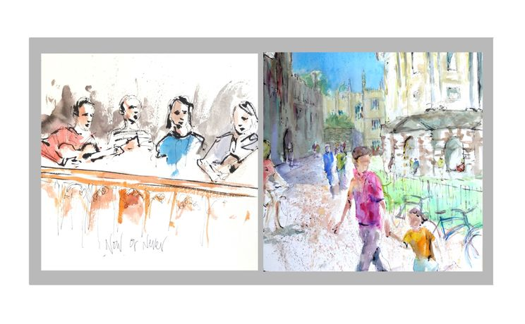 Crowd To Cloister: Merlin Porter's Paintings Celebrating Oxfords Music & Architecture: Image 1