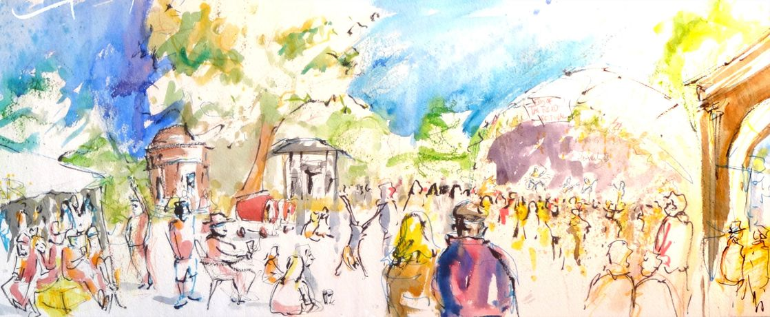 Crowd To Cloister: Merlin Porter's Paintings Celebrating Oxfords Music & Architecture: Image 0