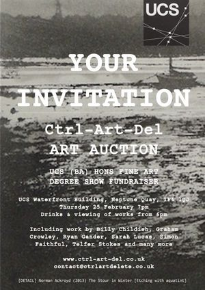 Ctrl-Art-Del UCS BA (Hons) Fine Art Degree show auction of artworks