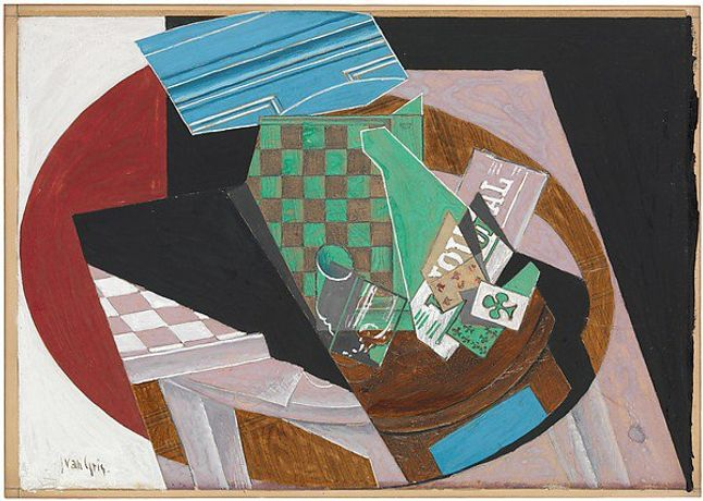 Checkerboard and Playing Cards Juan Gris  (Spanish, Madrid 1887–1927 Boulogne-sur-Seine)