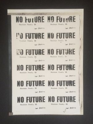 amie Reid, No Future, 1977, Courtesy John Marchant Gallery.