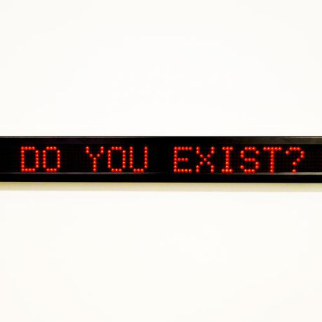 Accessible Artwork (Existential Sign) by Beth Davis-Hofbauer