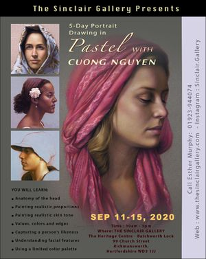 Cuong Nguyen 5 Day Portrait in Pastel workshop