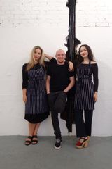 Co-founders Anna Beketov and Jenny Barcelos with chef Tom Anglesea