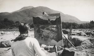 Eliot Hodgkin, painting in the Isle of Mull. Image (c) The Estate of Eliot Hodgkin
