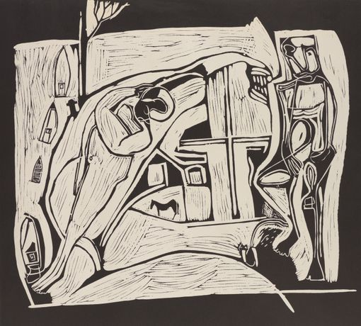 Peter Lanyon, The Returned Seaman, 1973, lithograph, copyright the estate of the artist.