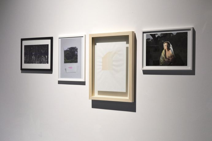 Exclusive editions on the occasions of the exhibition pilote : milieu, from left to right: Theresa Schubert The forestal Psyche (Ed. of 10), Selket Chlupka mind/set (Ed. of 10), Attilio Tono OWP1 (7 original drawings), Betty Böhm Mother and Child #3 (Ed. of 10)
